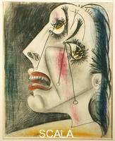 Picasso, Pablo (1881-1973) Studio per Guernica: donna che piange