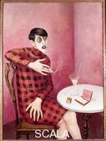 Dix, Otto (1891-1969) Portrait de la journaliste Sylvia von Harden, 1926, Peinture alhuile et tempera sur bois, 121 x 89 cm, Musee national dArt moderne, Paris
