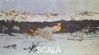 ******** Punishment of the lustful, 1891, by Giovanni Segantini (1858-1899), pastel on cardboard.