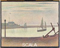 Seurat, Georges (1859-1891) The Channel at Gravelines, Evening (Summer 1890)