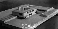 Mies van der Rohe, Ludwig (1886-1969) Concrete Country House Project, no intended site known, 1923. View of model (lost), entrance facade