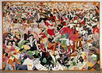 Severini, Gino (1883-1966) La danse du pan-pan au Monico, 1959-1960, Huile sur toile, Musee national dArt moderne, Paris