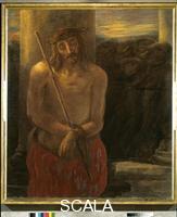 Previati, Gaetano (1852-1920) A Station of the Cross