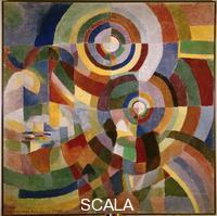 Delaunay Terk, Sonia (1885-1979) Prismes electriques, 1914, Huile sur toile, 2,5 x 2,5 m, Musee national dArt moderne, Paris