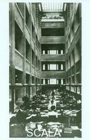 Wright, Frank Lloyd (1867-1959) Larkin Company Administration Building. Interior court view. 1905
