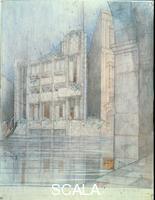 Wright, Frank Lloyd (1867-1959) Masieri Memorial, Canal Grande, Venice.