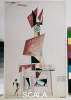 Rodchenko, Alexander (1891-1956) Design for a Newspaper Kiosk, 1919