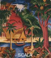 Pechstein, Max (1881-1955) Palau Landscape III; Palaulandschaft III. 1917