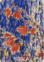 ******** Rohlfs, Christian (1849-1938). Red Flowers; Rote Blumen. 1931