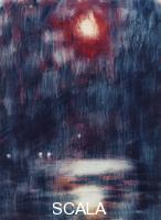 ******** Rohlfs, Christian (1849-1938). Moonlight on Lake Maggiore; Mondschein am Lago Maggiore. 1934