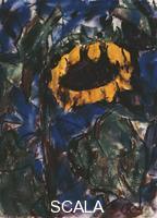 ******** Rohlfs, Christian (1849-1938). Sunflower; Sonnenblume.