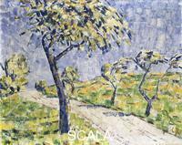 ******** Rohlfs, Christian (1849-1938). Autumn Landscape; Herbstlandschaft. c.1907