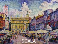 Signac, Paul (1863-1935) Signac, Paul (1863-1935). The Herb Market, Verona; la Place aux Herbes, Verone.