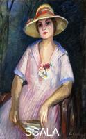 Camoin, Charles (1879-1965) Camoin, Charles (1879-1965). Lola Sitting with a Large Hat; Lola Assise au Grand Chapeau. 1920