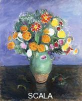 Camoin, Charles (1879-1965) Camoin, Charles (1879-1965). Flowers on Blue Background; Fleurs sur Fond Bleu. 1957
