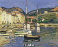 Camoin, Charles (1879-1965) Harbour of Cassis with Two Tartanes, c. 1905