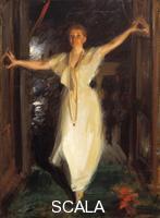 ******** Isabella Stewart Gardner in Venice, 1894. Found in the collection of the Isabella Stewart Gardner Museum, Boston. Artist: Zorn, Anders Leonard (1860-1920)
