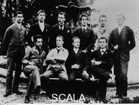 ******** Albert Einstein (foreground, left): School Group, Zurich, 1896