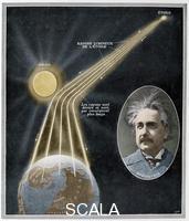 ******** Demonstration experimentale de la Relativite da la longueur d'un rayon lumineux par Albert Einstein apres avoir observe l'eclipse du 29 mai 1919.