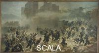 Ademollo, Carlo (1825-1911) Breaching of Porta Pia, the