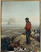Induno, Domenico (1815-1878) Garibaldi before Capua