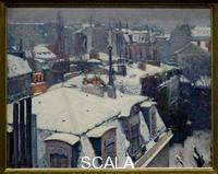 Caillebotte, Gustave (1848-1894) Vue de toits, effets de neige dit Toits sous la neige View of rooftops, aka The effects of snow roofs under snow. 1879