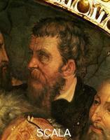 Vasari, Giorgio (1511-1574) Giorgio Vasari (1511-1574); Cosme I entoure de ses artistes, detail: tete de Bartolomeo Ammannati; Palazzo Vecchio, Salle de Cosme I dit lAncien; Florence
