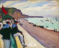 Marquet, Albert (1875-1947) La plage de Fecamp. 1906.