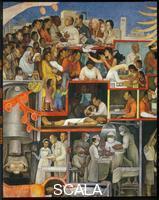 Rivera, Diego (1886-1957) Storia della Medicina. Parte sinistra. La nascita della medicina moderna e la promulgazione delle leggi sanitarie.