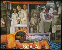 Rivera, Diego (1886-1957) Storia della Medicina. Trasfusione del sangue.