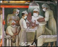 Rivera, Diego (1886-1957) Storia della Medicina. La nascita in una moderna sala parto.