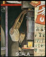 Rivera, Diego (1886-1957) Storia della Medicina. L'uso del Fluoroscopio. Microscopio elettronico.
