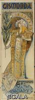 Mucha, Alphonse (1860-1939) Poster for performance of 'Gismonda'