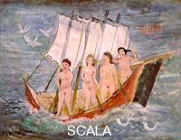 Tytgat, Edgard (1879-1957) Four Women in Boat