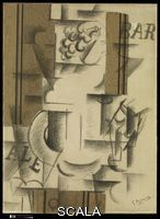Braque, Georges (1882-1963) Fruit Dish and Glass, Sorgues, autumn 1912