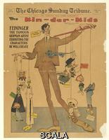 Feininger, Lyonel (1871-1956) The Kin-der-Kids, vignette from The Chicago Sunday Tribune, April 29, 1906