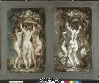 Anquetin, Louis (1861-1932) Two Studies for 'The Three Graces'. c.1899
