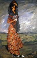 Zuloaga, Ignacio (1870-1945) Lola la gitana 'Olio su tela cm. 128x200
