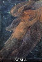 Previati, Gaetano (1852-1920) The Night. Oil, 127x91 cm