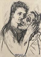 Kokoschka, Oskar (1886-1980) Selfportrait with lover, (Alma Mahler), 1913