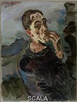 Kokoschka, Oskar (1886-1980) Selfportrait Oskar Kokoschka, with Hand by his face, 1918-1919