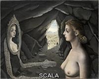 Delvaux, Paul (1897-1994) Woman in the Mirror, 1936