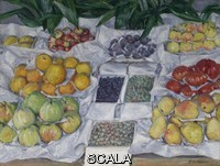Caillebotte, Gustave (1848-1894) Fruit Displayed on a Stand