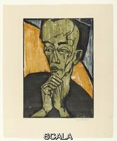 Heckel, Erich (1883-1970) Portrait of a Man (Maennerbildnis), 1919
