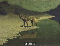 Remington, Frederic (1861-1909) Moonlight, Wolf, c. 1909.