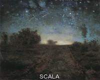 Millet, Jean Francois (1814-1875) Notte stellata, circa 1851