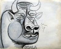 Picasso, Pablo (1881-1973) Disegno preparatorio per Guernica, 1937