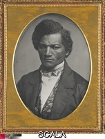 Miller, Samuel J. (1822-1888) Frederick Douglass, 1847/52. Daguerreotype, 14 x 10.6 cm (5 1/2 x 4 1/8 in., plate); 12.1 x 8.8 cm (4 3/4 x 3 1/2 in., mat opening); 15.2 x 12 x 1.4 cm (6 x 4 3/4 x 1/2 in., plate in closed case); 15.2 x 24 x 2 cm (6 x 9 1/2 x 3/4 in., plate in open case). Major Acquisitions Centennial Endowment, 1996.433.