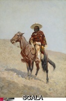 Remington, Frederic (1861-1909) A Mexican Vaquero, 1890. Oil on canvas, 82.6 x 58.4 cm (32 1/2 x 23 in.). Signed, lower right: