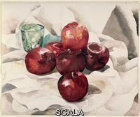 Demuth, Charles (1883-1935) Still Life: Apples and Green Glass. 1925. Watercolor and graphite on ivory wove paper. 300 x 350 mm. Olivia Shaler Swan Memorial Collection, 1933.47.